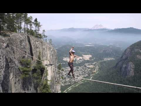 World Record Free Solo Insane Slacklining