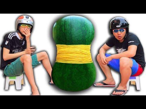 NTN - Thử Buộc 1.000 Dây Chun Vào Quả Dưa Hấu ( Rubberband vs Watermelon ) - Thời lượng: 10:07.