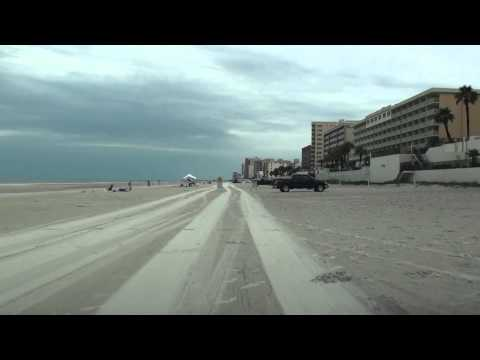 Daytona Beach - For the first time in life driving on a beach and on sand, that's why at the very beginning of the video is mostly like a