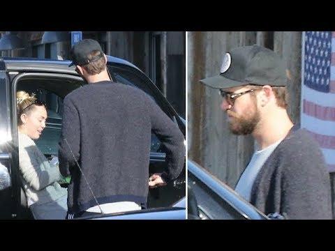 Miley Cyrus And Liam Hemsworth Grab Lunch On The Malibu Coast