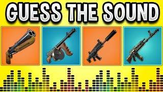 Guess The GUN Sound In FORTNITE BATTLE ROYALE! - Fortnite Quiz #2