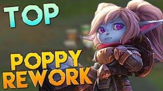 Poppy ReWork Gameplay - Top Lane, liên minh huyền thoại, lmht, lol