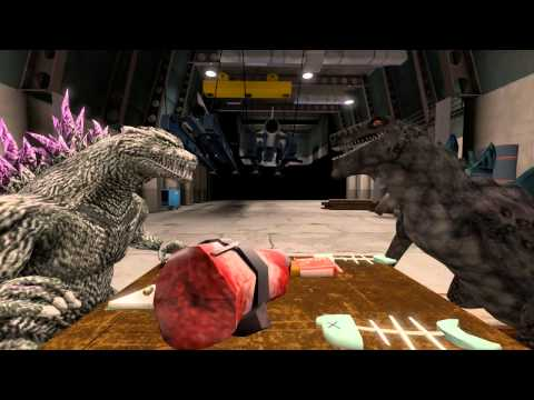 (SFM) Godzilla and Zilla can't be friends (видео)