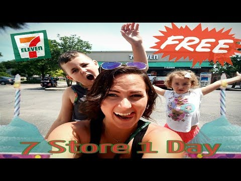 7-Eleven FREE Slurpee Day!! 7 Stores in 1Day _ Haul Vlog