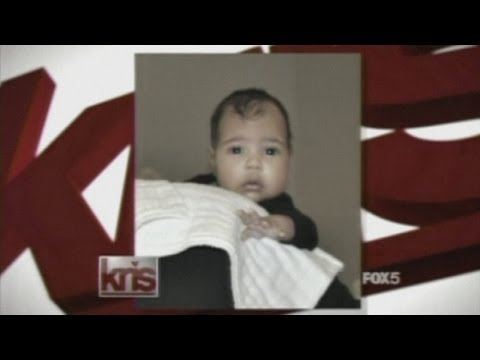 Kimye: Kanye West shows off first photo of baby North on Kim Kardashian's mum's TV show