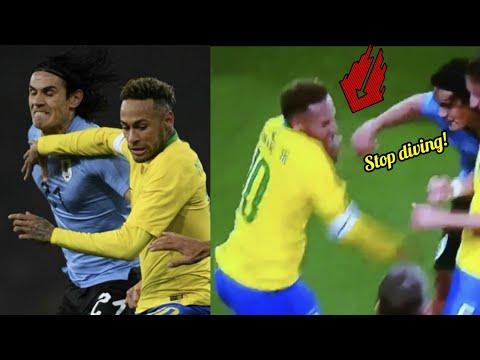 Neymar Jr Vs Cavani Fight!  Brazil Vs Uruguay 1-0 2018\2019 HD Team mates or Enemies?