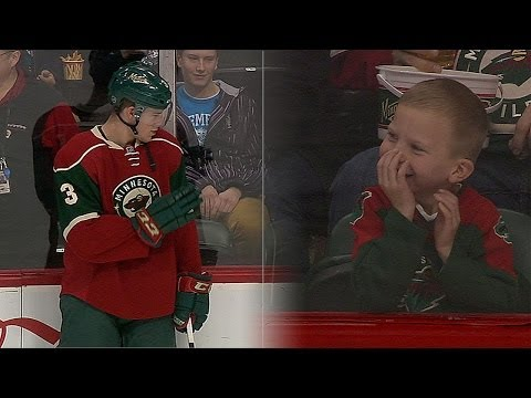 Video: Priceless: Wild's Coyle Makes Young Fans Day