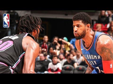 Video: Full Game Recap: Thunder vs Heat | PG Hits Career-High 10 Threes