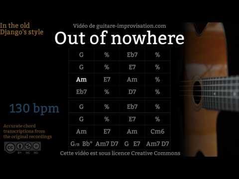 Out of Nowhere (130 bpm) - Gypsy jazz Backing track / Jazz manouche