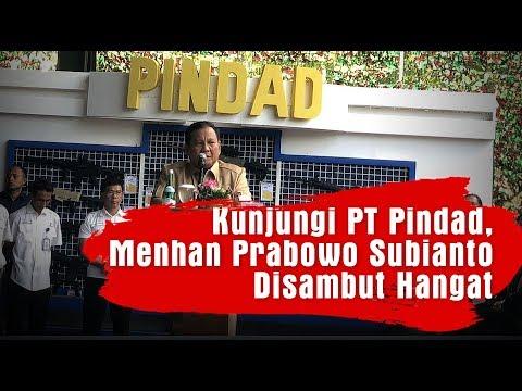 Kunjungi PT Pindad, Menhan Prabowo Subianto Disambut Hangat