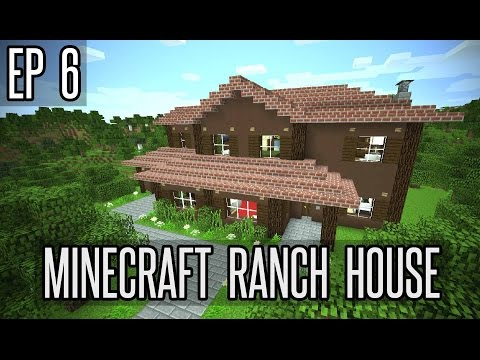 How To Make A Garage In Minecraft - Ranch House - Part 6