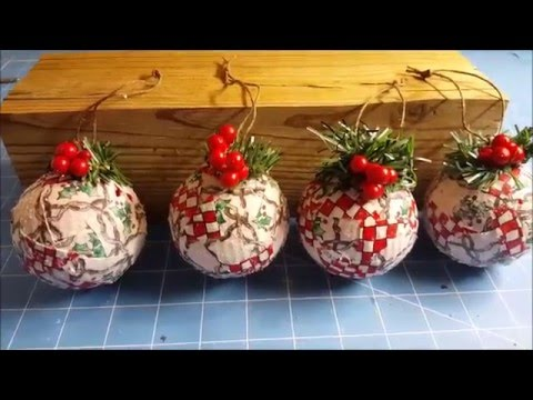 patchwork - come decorare le palline di natale