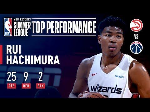 Video: Rui Hachimura Turns In Big Performance VS Atlanta | July 11, 2019