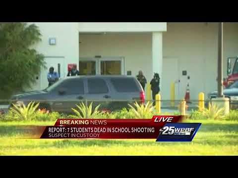 School shooting suspect taken to hospital