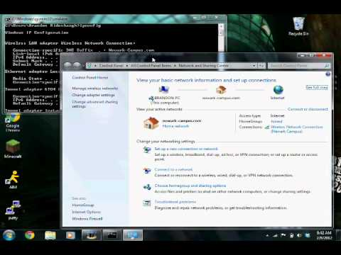 How to setup a static IP address and change DNS server
