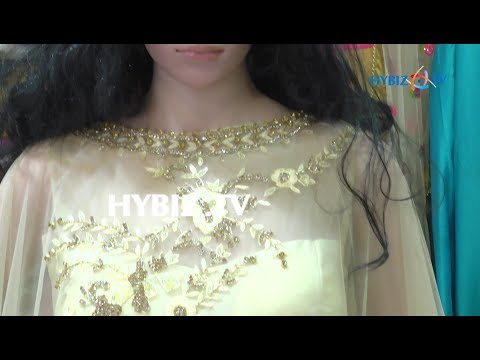 , Latest Embroidered Cape Gown Dress Design