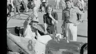 corrida de automóveis em 1940 em Hot Rods, Southern California, EUA.