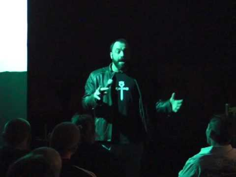 Joe Rogan comedy in a cafeteria, Birmingham