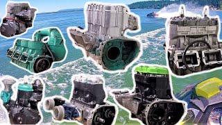5. Kawasaki big bore engines standup jetski
