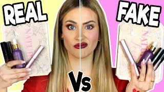 PROBANDO REAL Vs FAKE MAKEUP   Maquillaje Pirata ¿Termina Mal?