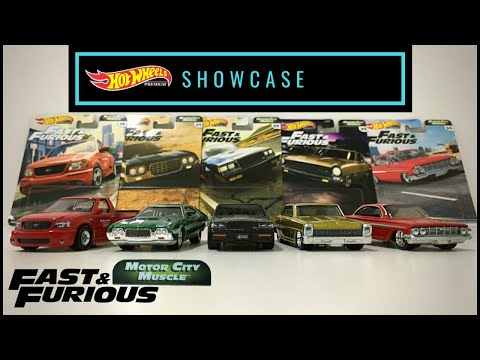 Showcase - Hot Wheels Premium 2020 Fast & Furious Motor City Muscle (Mix G)