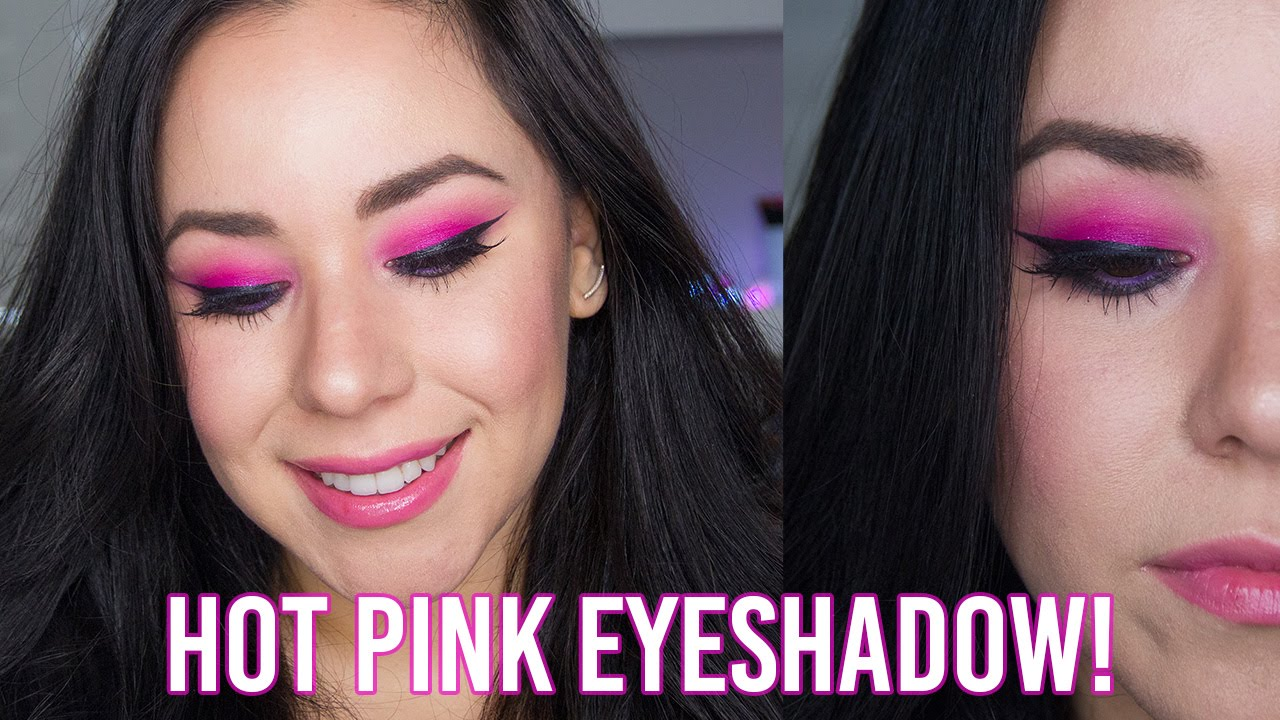 Valentine's Day Makeup | Hot Pink Eyeshadow | Full Face