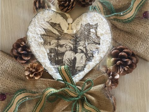 decoupage - decorazione natalizia