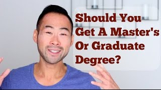 "In this video, I tell you whether or not you should pursue a master's degree or graduate degree. I tell you who I talked to, who's advice matters and the importance of weighing time and investment vs. value and experience, to help you decide between graduate school or not.I mentor you towards a rewarding career and help you create a life you're proud of. My Website: http://www.101mentoring.com/My Products and Services:http://www.101mentoring.com/productsandservicesGrab a free copy of my ebook, The Unfair Advantage:http://www.101mentoring.com/ebook/unfairadvantageAsk me a question and I'll answer it in a future video:http://www.101mentoring.com/askyourquestionI was at a mentoring event the other night - it was a wonderful dinner, attended by very enthusiastic, keen and excited students. Some were in their second year of schooling and others were closing in on finishing their bachelors degree. Can you guess as to what one of the most common questions would be? ""Should i get my master's degree?"" or ""I'm not sure what i want to do after I graduate, but i'm thinking of getting my master's or taking my GMAT.""I was in a similar situation myself in my last year of college but instead of just rushing ahead and applying for graduate school, I thought it'd be better to do some research and see if it's the right move for me.In this video, I answer the question, ""Should You Pursue A Master's Degree?"" and I talk about:- The people I targeted, that I felt would have the answers I was seeking- Who I thought didn't have the right answers at all- The determining factors in making the decision (investment, time vs. value, experience)- Why there is no rush to get back into school right away"