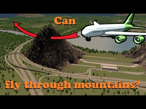 Can airplanes fly through mountains?! (видео)