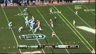 "Dwight Jones vs Virginia Tech 2011 ""Jayron Hosley"""