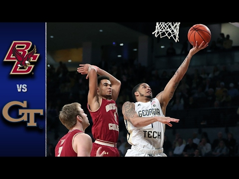 Boston College vs. Georgia Tech Men's Basketball Highlights (2016-17)