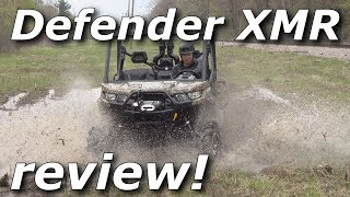 4. Can-Am Defender XMR review! Mud, water, and forest rip!