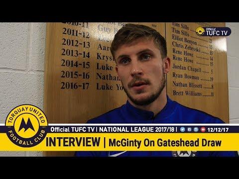 Official TUFC TV | Sean McGinty On Gateshead Draw 12/12/17