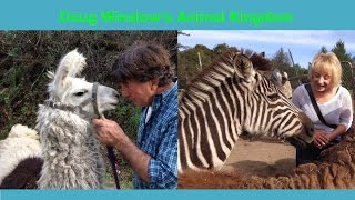 Doug Winslow, the real Dr. Doolittle, let me in his pen of hungry wild animals to feed them. Quite the experience!Subscribe and I'll see you next time!► HelloHealthiness: http://youtube.com/hellohealthiness► Round Diet Book: http://tinyurl.com/yzl8dvu