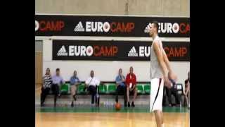 Donatas Motiejunas Workout at the adidas EuroCamp in Treviso