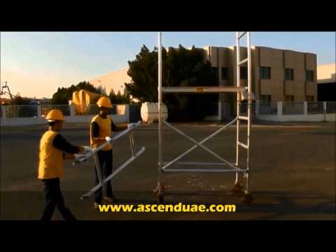 Mobile stair scaffold