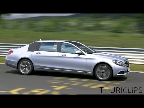 2015 Mercedes-Benz Maybach 'S-Class LWB' spied testing on the Nürburgring!