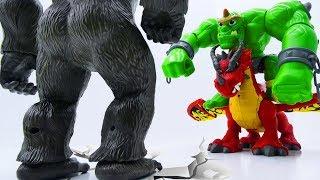 Video Power Rangers & Marvel Avengers Toys Pretend Play   KING KONG vs GIANT & DRAGON MP3, 3GP, MP4, WEBM, AVI, FLV Agustus 2018