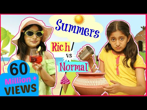 KIDS In SUMMERS - Rich Vs Normal ...| #Fun #Sketch #Roleplay #Anaysa #MyMissAnand