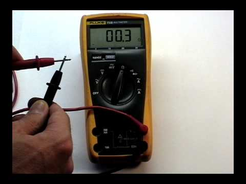 multimeter ohms and continuity
