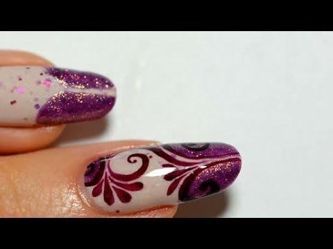 nail art tecnica arabesque