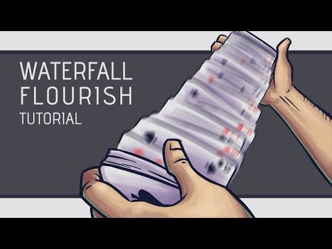 Waterfall Card Flourish Tutorial [HD] (видео)