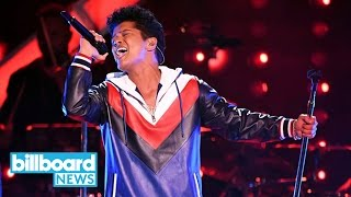 Bruno Mars Ties Justin Timberlake for Most Pop Songs No. 1s Among Male Soloists | Billboard News