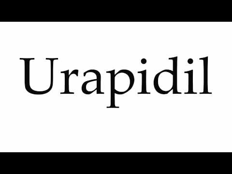 How to Pronounce Urapidil