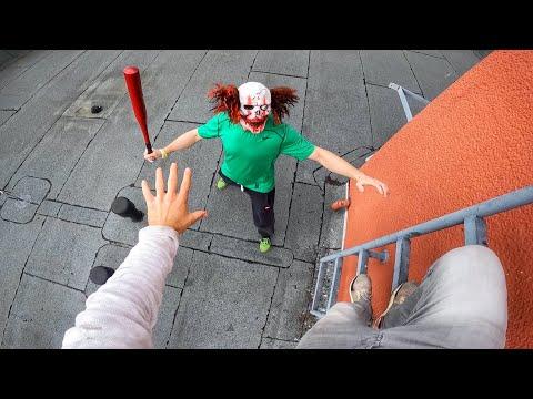 Horror Clowns VS Parkour POV | Halloween Chase IV