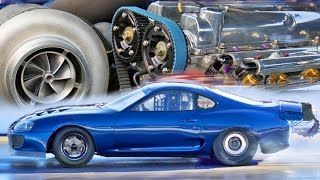 2,400HP Toyota Supra - 6 CYLINDER Drag Car! by 1320Video