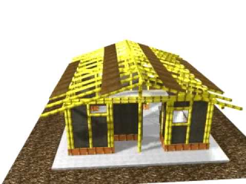 guadua - Construccion de una casa en guadua hecha en 3d (contrucción virtual)