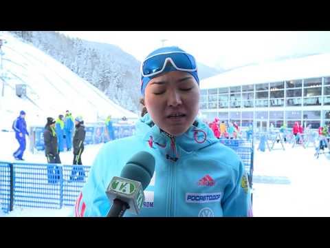 Татьяна Акимова после женского пасьюта на 5-м этапе Кубка мира по биатлону в Рупольдинге