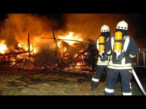 Scheunenbrand in Volkhardinghausen