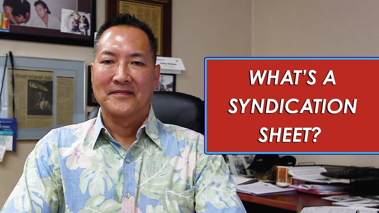Q: Why Does a Syndication Sheet Matter?